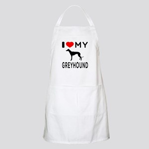 I Love My Greyhound Apron